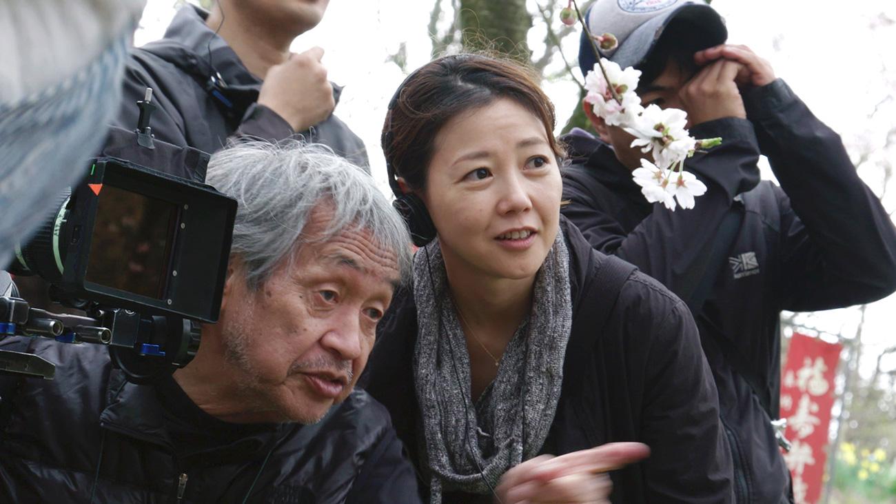 Director Miwa Nishikawa with cinematographer Yutaka Yamazaki.